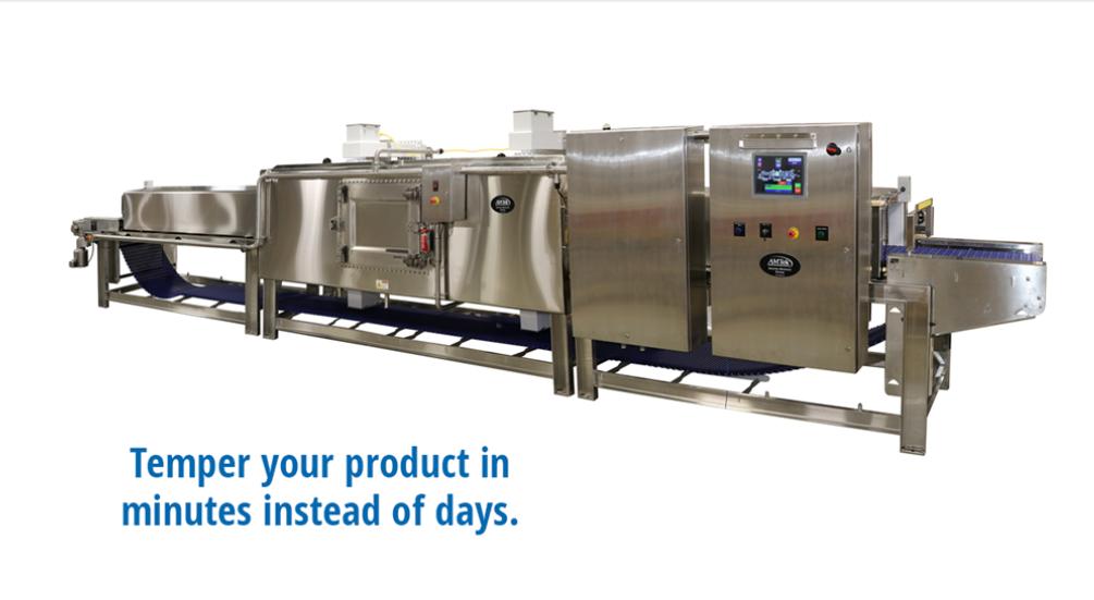 微朗科技915MHz连续式微波解冻机在某肉联厂投入